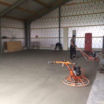 Vloeistofdichte betonvloer