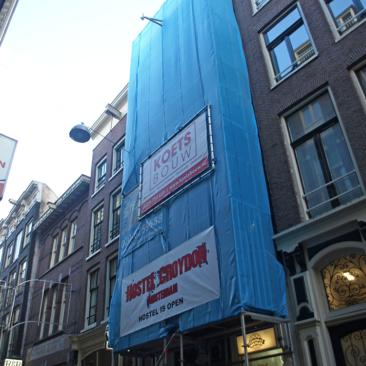 Renovatie Buitengevel Warmoesstraat 75